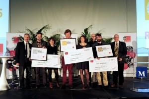 Soirée FME, Remise des Prix, groupe des gagnants avec christian PONSOLLE et les administrateur du FME , Montpellier 7 Janvier 2016