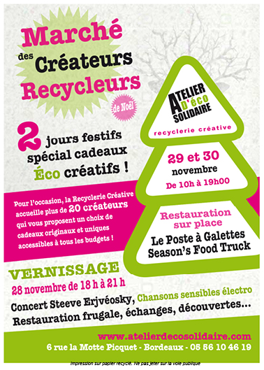 5 me dition du march des cr ateurs recycleurs de l atelier d co solidaire atelier d co. Black Bedroom Furniture Sets. Home Design Ideas